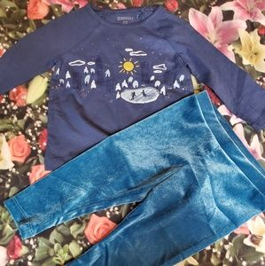 nwt gymboree top leggings 12-18m
